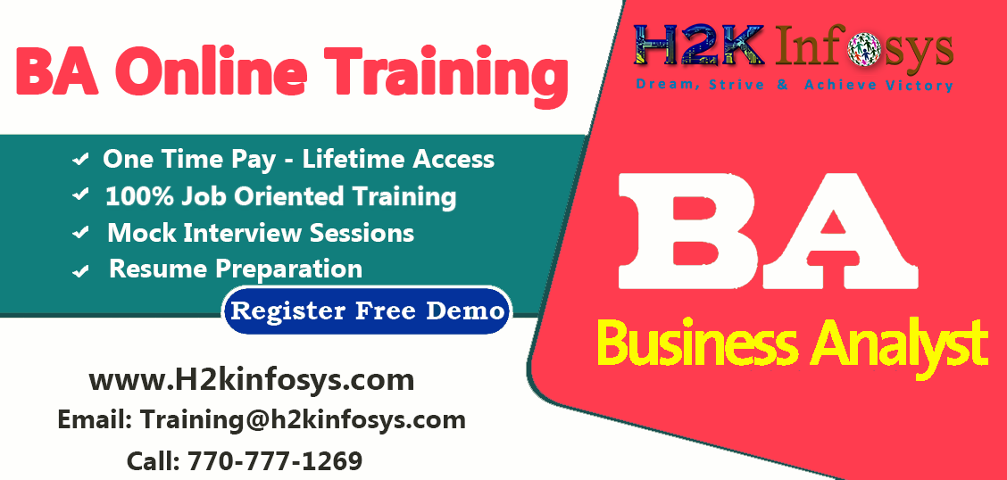Professional Business Analyst(BA) Online Training