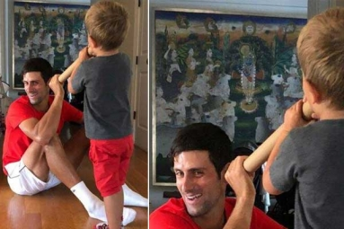 Is Tennis Star Novak Djokovic a Devotee of Lord Krishna? This Viral Pic with His Kids Is a Proof